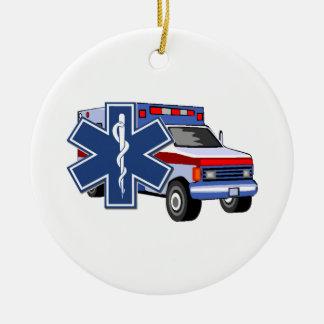 EMSの救急車 セラミックオーナメント