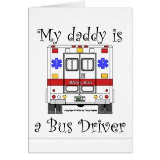 EMSの救急車、バス運転手のお父さん、カード カード