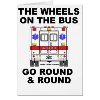 EMSの救急車-バス、カードの車輪 カード
