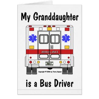 EMS救急車、Grandaughterのバス運転手、カード カード