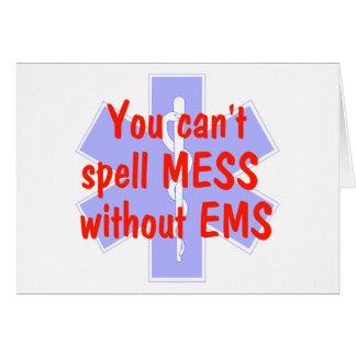 EMS EMSのカードなしで混乱を綴ることができません カード