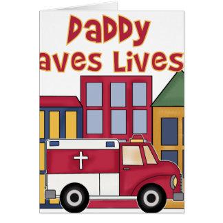 EMTのお父さんは生命を救います カード