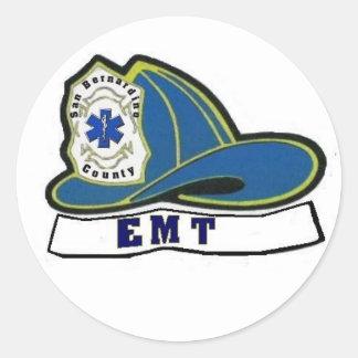 EMTのヘルメット 丸形シールステッカー