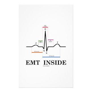 EMTの内部(湾曲のリズムの心電図) 便箋