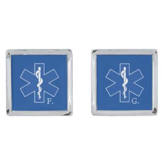 EMTの救急医療隊員の記号のカスタム 銀色 カフリンク
