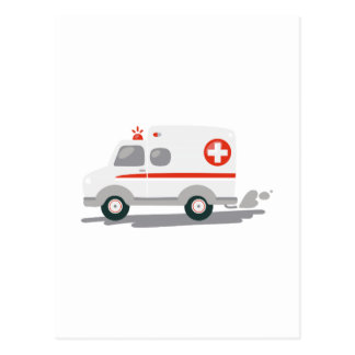 EMTの救急車 ポストカード
