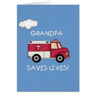 EMTの祖父は生命Tシャツおよびギフトを救います カード