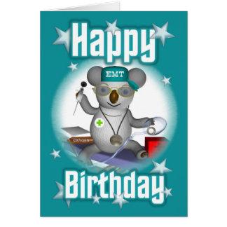 EMTの誕生日のコアラ カード