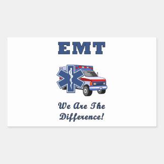 EMT私達は相違です 長方形シール