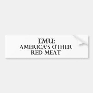 EMUアメリカ大陸他の赤身 バンパーステッカー