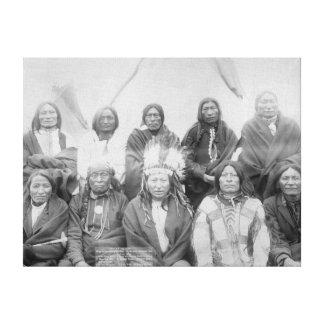Enに一般的なマイルに会ったLakotaのインディアンの酋長 キャンバスプリント