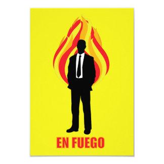 En Fuego 8.9 X 12.7 インビテーションカード