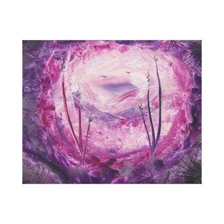 Encausticのファンタジーの芸術。 洞窟 キャンバスプリント
