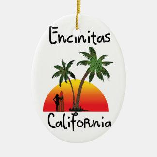 Encinitasカリフォルニア 陶器製卵型オーナメント