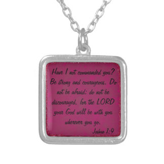 encouagementの聖書の詩のジョシュアの1:9のネックレス シルバープレートネックレス