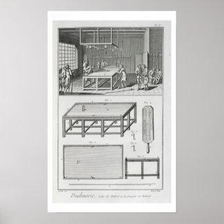 「Encyclopedie desからのビリヤードを、遊んでいる人 ポスター