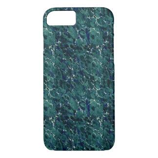 Endpaperの19世紀なデザインの完全な青緑 iPhone 8/7ケース
