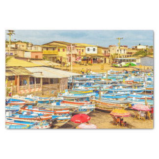 EngabaoのビーチのGuayasの地域エクアドル 薄葉紙
