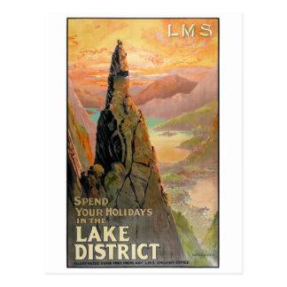 england湖地区のヴィンテージ旅行ポスター ポストカード