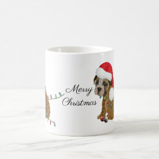 English Bulldog Puppy Christmas コーヒーマグカップ