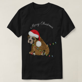 English Bulldog Puppy Christmas Tシャツ