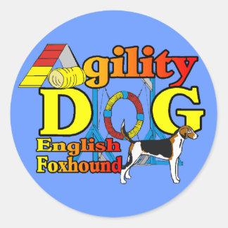 English_Foxhound_Agilityのギフト ラウンドシール