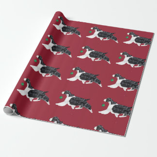 English Springer Spaniel Christmas Wrapping Paper ラッピングペーパー