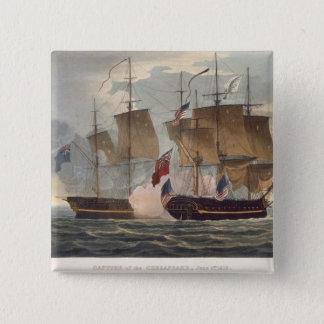 engrチェサピークの捕獲、1813年6月1日 5.1cm 正方形バッジ
