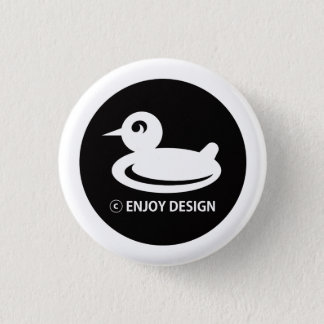 ENJOY DESIGN PINS 3.2CM 丸型バッジ