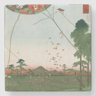 EnshuのFukuroiの凧のAkibaの遠い眺め ストーンコースター