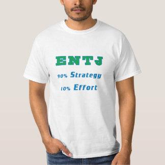 ENTJ 90%の作戦、10%の努力 Tシャツ