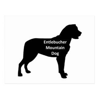 entlebucher mt犬の名前のサイロblack.png ポストカード
