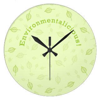 Environmentalicious ラージ壁時計