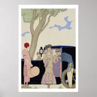 Envy 1914年(pochoirのプリント) ポスター