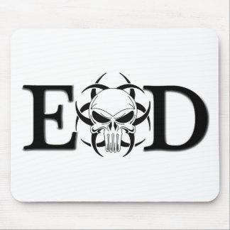 EODのスカル マウスパッド