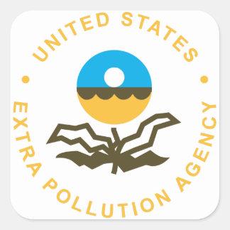 EPA: 余分汚染代理店(ロゴ) スクエアシール