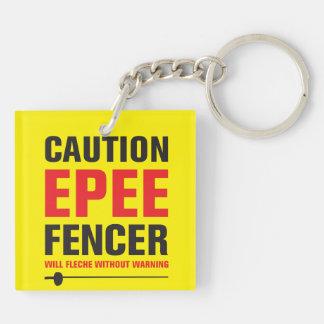 EpeeのFencerはFleche キーホルダー