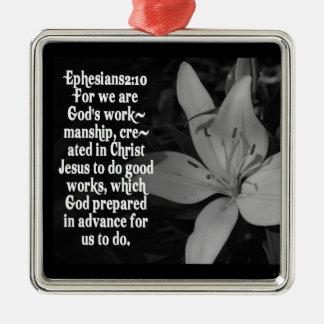 Ephesiansの2:10のクリスマスの聖書の聖なる書物、経典のオーナメント メタルオーナメント