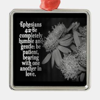 Ephesiansの4:2のオーナメントの聖書の聖なる書物、経典は控え目です メタルオーナメント