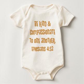 Ephesiansの4:32、金ゴールド ベビーボディスーツ