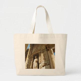 Ephesusトルコ- Ephesusの摂氏図書館 ラージトートバッグ