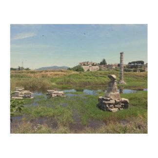 Ephesus、トルコのアルテミス神殿 ウッドウォールアート