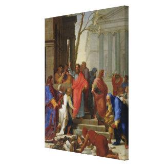 Ephesus 1649年のセントポールの説教 キャンバスプリント