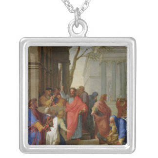 Ephesus 1649年のセントポールの説教 シルバープレートネックレス