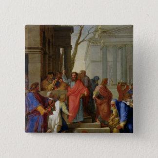 Ephesus 1649年のセントポールの説教 5.1cm 正方形バッジ
