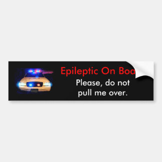 Epileptic船上に バンパーステッカー