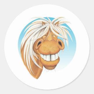 Equi漫画の「生意気なChappie」の馬の友達。 ラウンドシール