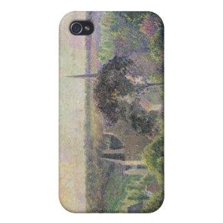 Eragny 1895年の教会そして農場 iPhone 4/4S case