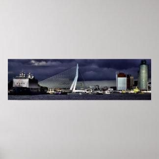 Erasmus橋、ロッテルダム ポスター