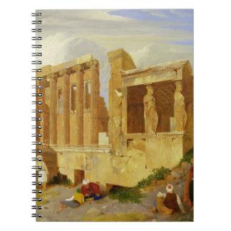 Erechtheum、Foregrの姿が付いているアテネ、 ノートブック